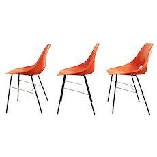 Chair by Miroslav Navratil for Vertex, 1960s, set of 3
