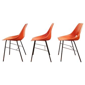 Chair by Miroslav Navratil for Vertex, 1960s, set of 3