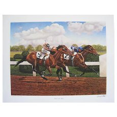 33 WILL TO WIN by JOSEPH PETRO Signed Limited Edition Print Plate No. 6 1967