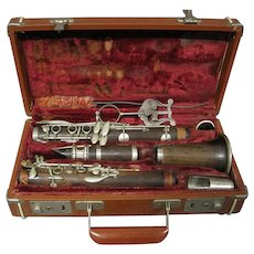 Antique Rosewood LYCEUM CLARINET #6444 Made in Italy