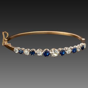 Victorian Bracelet Antique Gold Bracelet,Antique Diamond Bracelet, Victorian Bangle 18K
