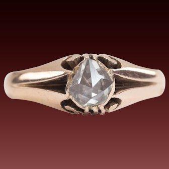 Georgian Ring,Antique Diamond Ring,Georgian Rose Cut Diamond