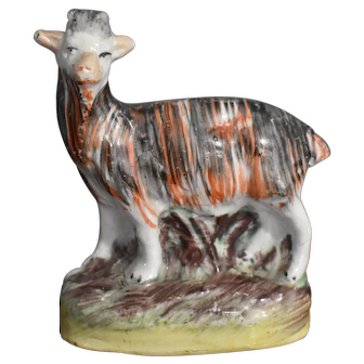 Victorian Staffordshire Figure of a Billy Goat circa 1860