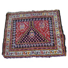 Antique Oriental Persian Prayer Rug