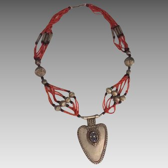 Coral Necklace Guatemala Mayan