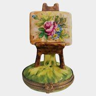 Limoges Artist's Easel Trinket Box