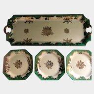 Sandwich Tray With Six Plates Noritake Morimura 1920s-1945