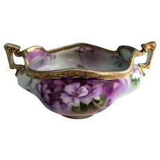 Lovely Violet Candy Dish Nippon Maple Leaf 1891