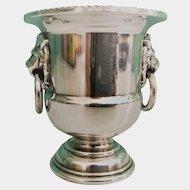Silver Plate Urn Cigarette Holder Vase 1940s-1950s