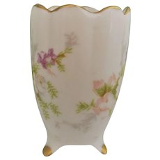 Hand Painted Floral Miniature Vase Toothpick Holder 1950s-1960s