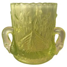 Toothpick Holder Swans 1960s Carnival Glass Westmoreland