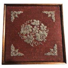 1940s Beaded Trivet Display Piece