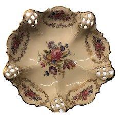 Rosenthal Floral Porcelain Bowl 1938