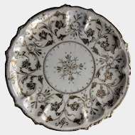 "Noritake 1880s Enameled/Jeweled Gold on White 10"" Plate"