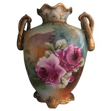 Awesome Vase Roses and Scenic Nippon 1891-1921
