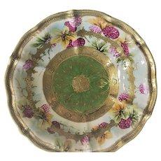 Gorgeous Raspberry Bowl Nippon Maple Leaf 1891