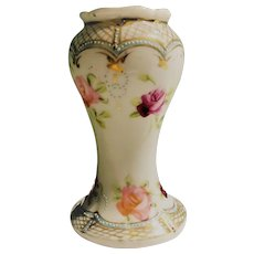 Nippon Small Vanity Vase or Hatpin Holder 1891