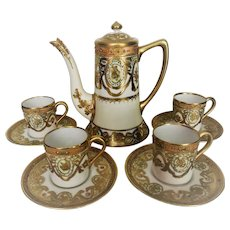 Exquisite Demitasse Set Nippon 1891-1921