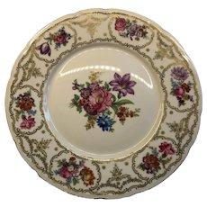 Czechoslovakia Floral Plate Late 1940s-50s