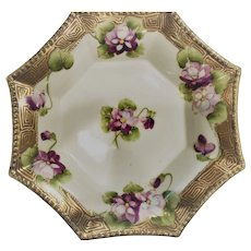 Nippon Candy Dish Violets 1911-1921