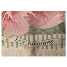Hermes Scarf les pivoines NEW/MINT/UNUSED 1998