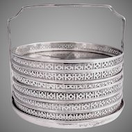 Sterling Silver and Cut Glass Coasters, Set of 6, 1940s
