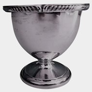 Goblet York Pattern, Plated Silver Gold Wash Interior 1930s