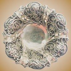 Art Nouveau Sterling Silver Pin Dish 1891