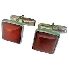 Vintage Carnelian Cufflinks Sterling Silver