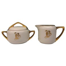 B in Gold Cream and Covered Sugar 1920-1938
