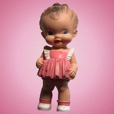 Rubber pink dress doll sun rubber co. Ruth e lewton 1950s