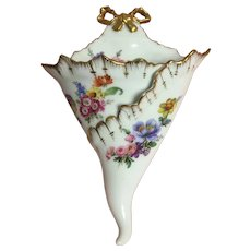 Limoges France wall pockets blakeman&henderson 1890-1910