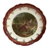 Miniature Limoges France-Fragonard courting scene decorative plate