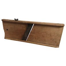 Vintage wooden cabbage cutter 1848 -1950s