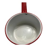 Graniteware red and white pan 1870 - 1930s