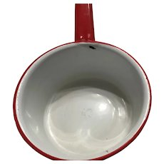 Graniteware red and white pan 1870 - 1930s