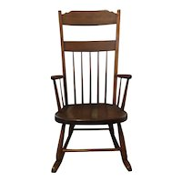 vintage wooden Rocking chair with arms