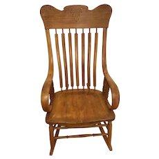 Wooden rocker-1900-1917