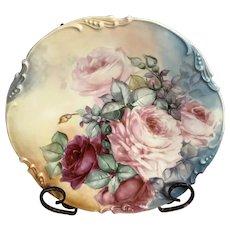 Limoges plate j p painted Jan 23 1906