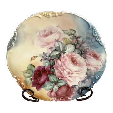 Limoges plate j p painted Jan 23 1906