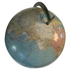 Vintage spinning world globe