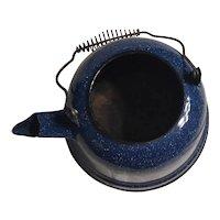 Large Blue Water,Tea  kettle /granite ware 70's