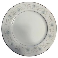 English Garden Platinum Dinner plates, fine china 1960