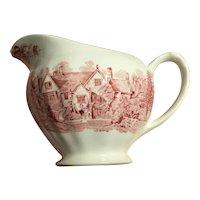red J&G MEAKIN china creamer romantic England