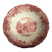J&G MEAKIN England red serving bowl
