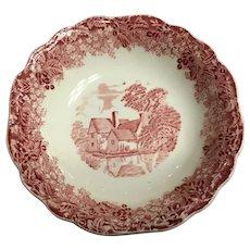 J&G MEAKINS England red fruit bowl