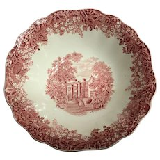 J&G MEAKIN England red cereal bowl