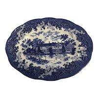 """J&G MEAKIN England Blue 12"""" meat platter"""