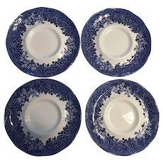 J&G MEAKIN England cobalt  Blue saucers