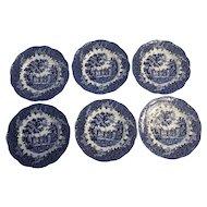 J&G MEAKIN England cobalt  Blue salad - bread plates